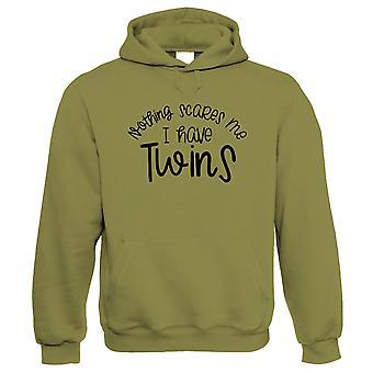 Niets maakt me bang ik heb tweelingen, hoodie - Moeders Dag Funny Gift Haar