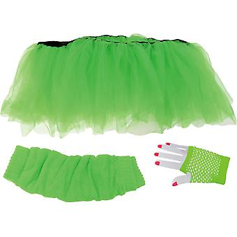 Tutu Set Adult Green