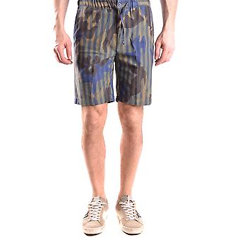Daniele Alessandrini Ezbc107024 Men's Multicolor Cotton Shorts