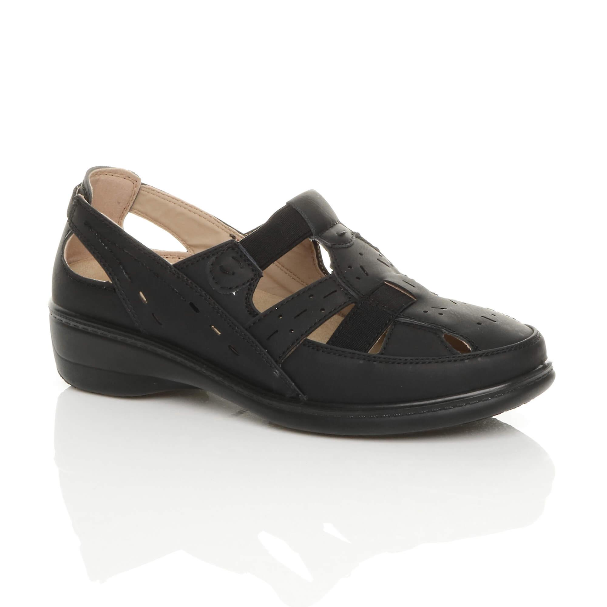 Ajvani womens low heel lightweight elastic comfort casual walking shoes 7qPW2