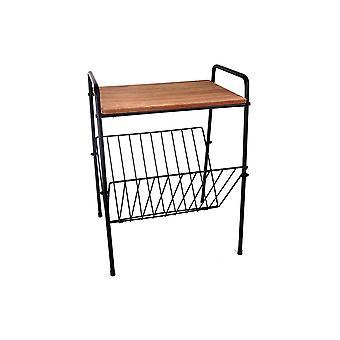 Dřevo & boční zásobník na kávu stojan na rošt-stolní displej