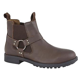 Roamers Mens Leather Twin Gusset Ankle Boot