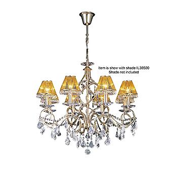 Diyas Torino hänge 8 ljus franskt guld/kristall