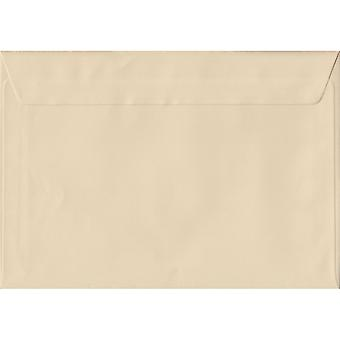 Cream Peel/Seal C5/A5 Coloured Cream Envelopes. 100gsm FSC Sustainable Paper. 162mm x 229mm. Wallet Style Envelope.