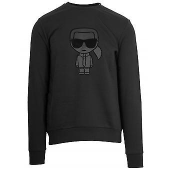 Lagerfeld Black Crew Neck Sweatshirt