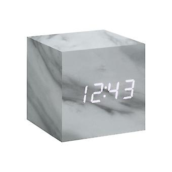 Gingko Cube LED Click Clock Alarm Clock With Sound Activation (Time, Date & Temperature) Various Colours