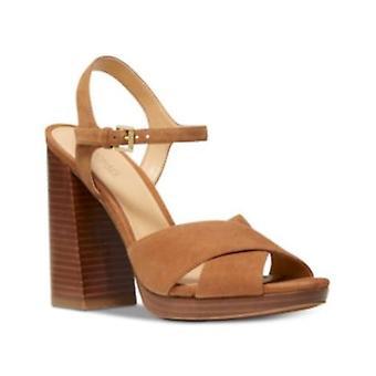Michael Michael Kors Womens Alexia Sandal Suede Open Toe Formal Ankle Strap S...