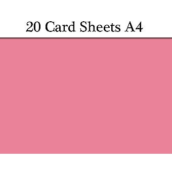 20 Pink A4 Card Sheets for Crafts   Coloured Card for Crafts