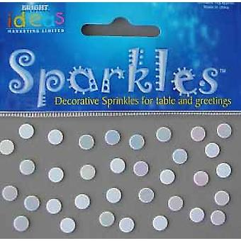 SALE - 14g Iridescent White Dot Snow Style Confetti Sequin Circles
