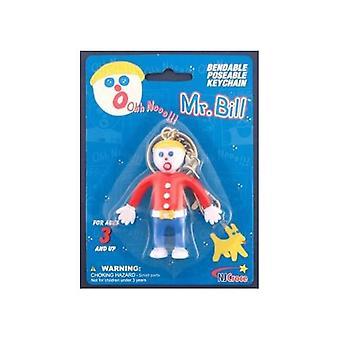 Chaîne de clés - M. Bill 3-quot; Bendable Rubber Figure Toys Gifts Licensed New krb-2600