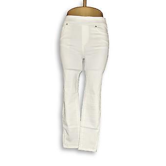 Martha Stewart Femme-apos;s Petit Pantalon Tricot Denim Ankle Blanc A351437