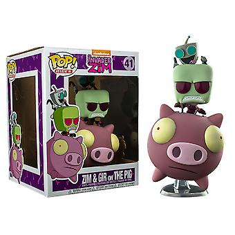 Invader Zim Zim & GIR on the Pig US Exclusive Pop! Ride