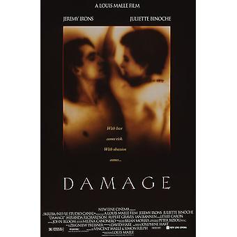 Dano (simples tomado o partido regular) (1992) poster original do cinema