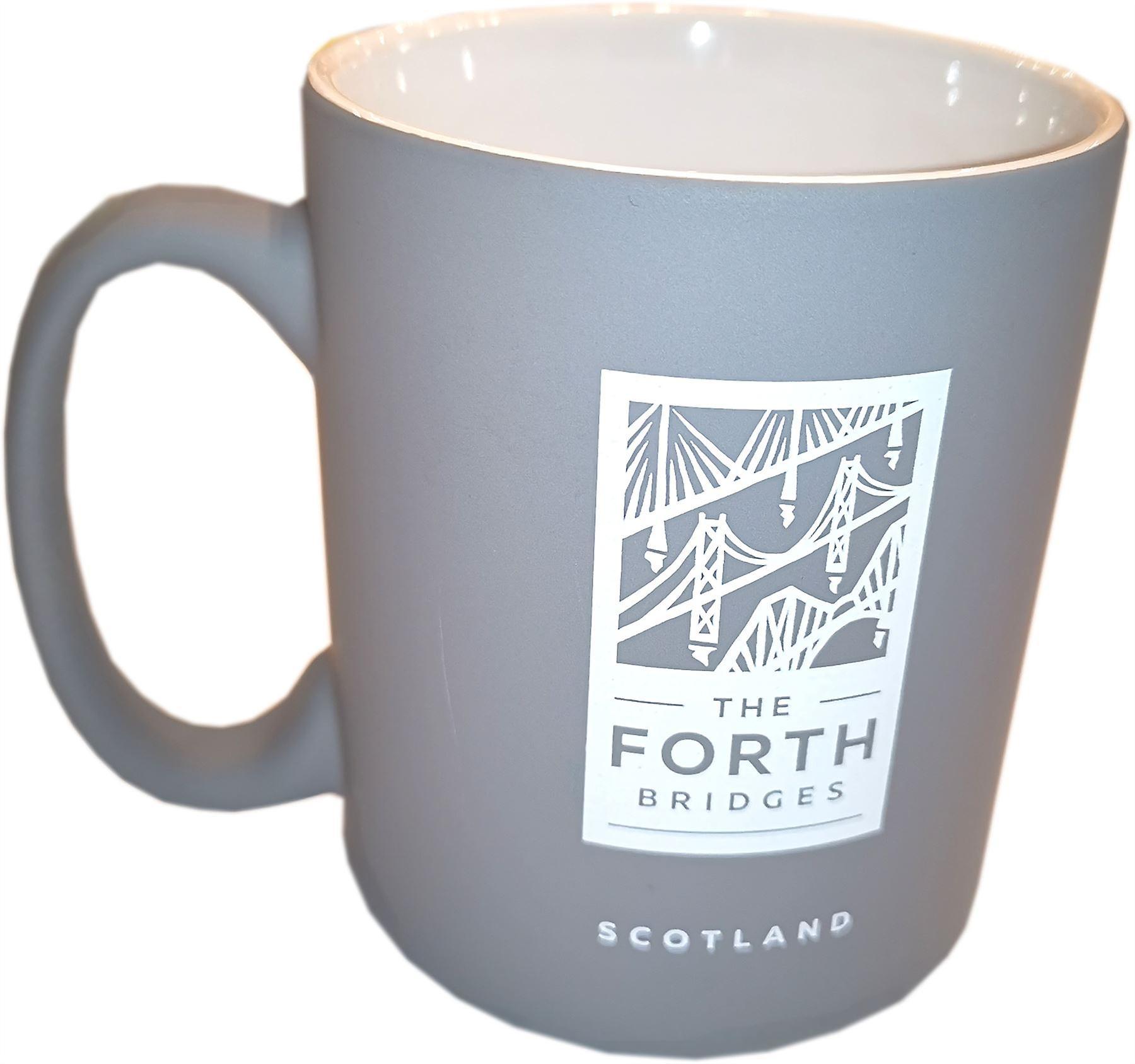 The Forth Bridges Mug Grey - The Forth Bridges