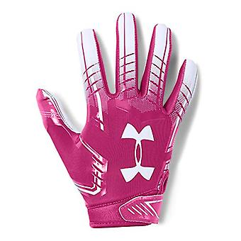 Under Armour boys F6 Youth Football Gloves Tropic Pink, Pink, Size Youth Large