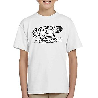 Grimmy All Fours Grin Kid's T-Shirt