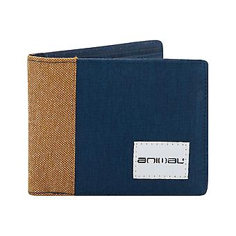 Animal Provoked Faux Leather Wallet in Navy