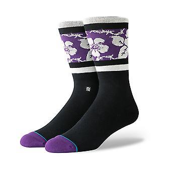 Stance Barbed Aloha Crew Socks in Black
