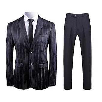 Allthemen Men's 2-teilige Anzüge Streifen Slim Fit Business Casual Blazer & Pants