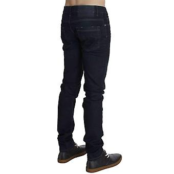 Blue Cotton Stretch Slim Fit Jeans -- SIG3558341