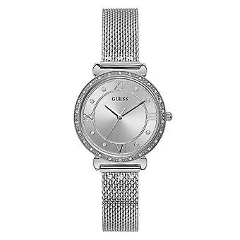 Guess W1289L1 Kobiety's Jewel Silver Tone Zegarek na rękę