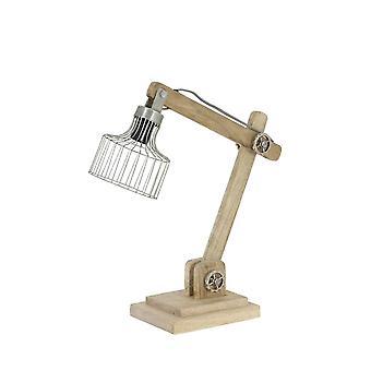 Light & Living Desk Lamp 50x15x45 Cm EBKE Wood Natural+zinc