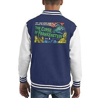 Hammer Horror Films Curse Of Frankenstein Chained Hand Kid's Varsity Jacket