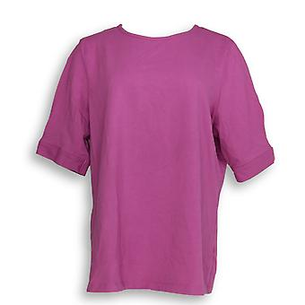 Mujeres's Plus Top Perfect Jersey Pleated Pink A350024