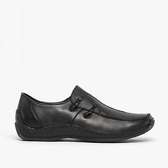 Rieker L1751-00 Ladies Slip On Shoes Black
