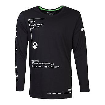 Microsoft Xbox klaar om te spelen lange mouwen shirt mannelijke grote zwarte (LS271133XBX-L)