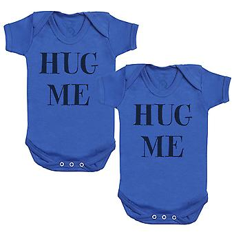 Hug Me Twins Baby Bodysuit - Baby Gift Twin Set