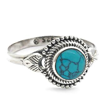 Ring Silver 925 Sterling Silver Turquoise Blue Green Stone (Nr: MRI 153)