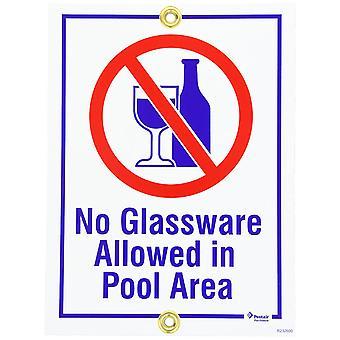 """Pentair Rainbow R232600 9 """"x 12"""" n produtos vidreiros permitidos em sinal de área de piscina"""
