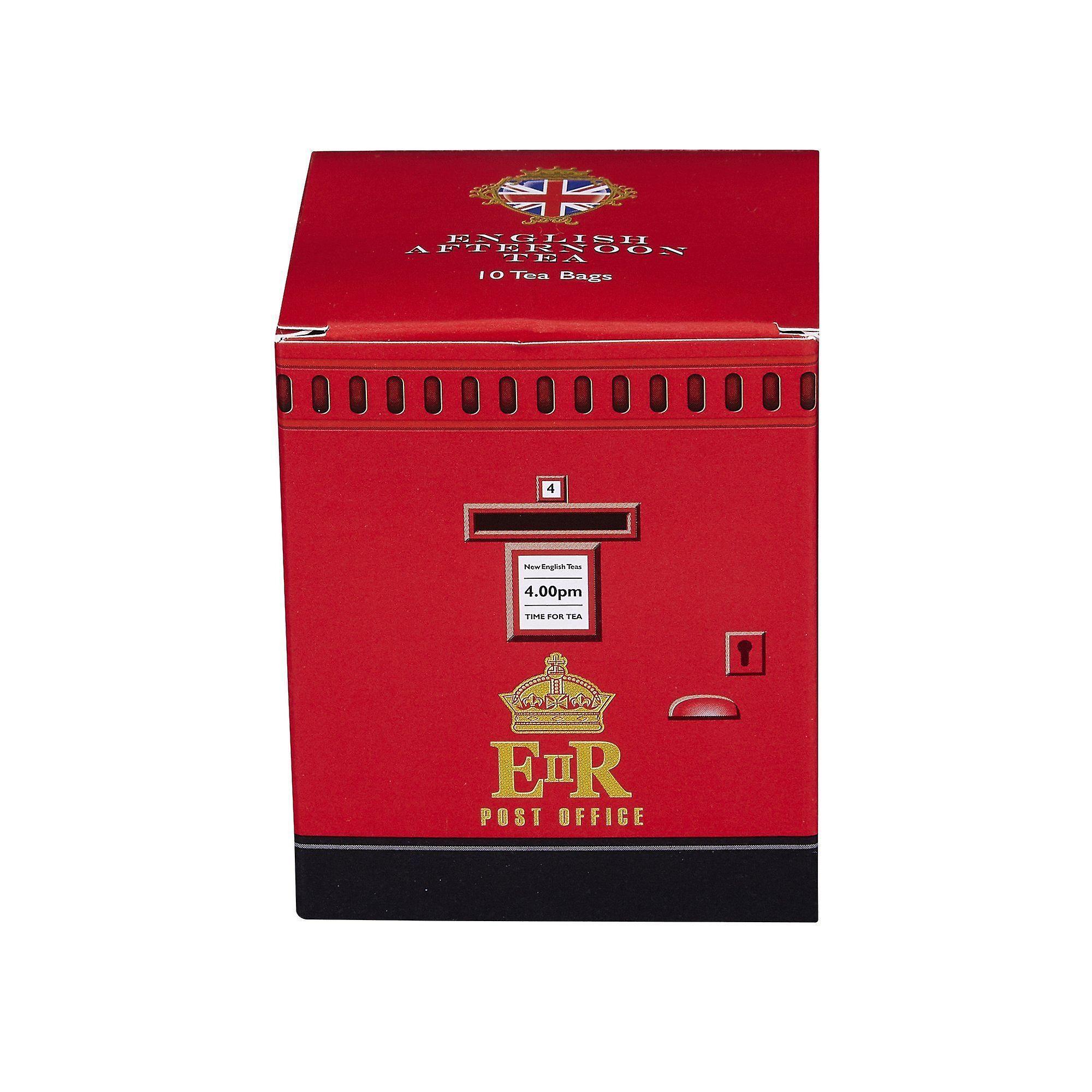 English post box afternoon tea 10 teabag carton