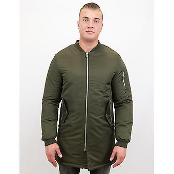 Winter jackets-Biker Winter jacket Parka-Urban Bomber jacket-Green