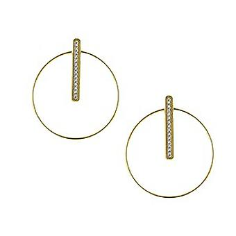 The Interchangeable Earrings A54283 - Croles Barette Strass MM Crystal Yellow Gold