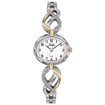 Sjekk Certus 634051-JOALIA Steel Bicolore sølv og dor Cadran White Women