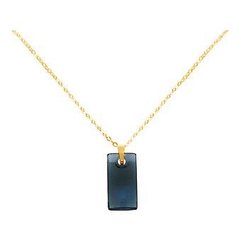 Gemshine cadeia azul pingente 925 prata ou ouro banhado SWAROVSKI ELEMENTOS