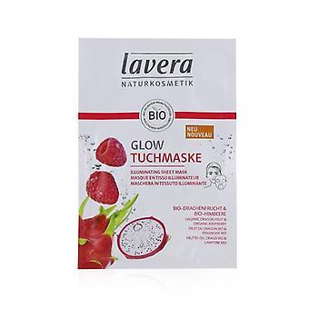 Lavera Blatt Maske - erhellend (mit Bio-Drachenfrucht & Bio Himbeere) - 1Blatt