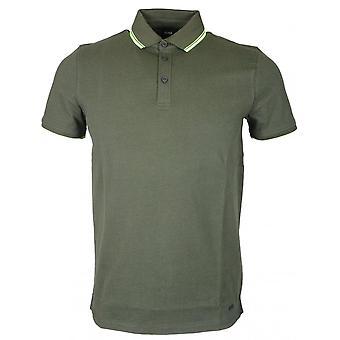 Hugo Boss Poltron Kurzarm Baumwolle Khaki Poloshirt