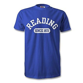 Lesen von 1871 gegründet Fussball T-Shirt