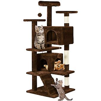 Cat Scratching Post Tower Tree Pet Palace Cat Palace,Brown