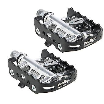 Wellgo Reversible Sealed Platform Clipless Pedal Set