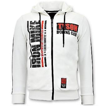 سترة التدريب – الحديد مايك تايسون الملاكمة – أبيض