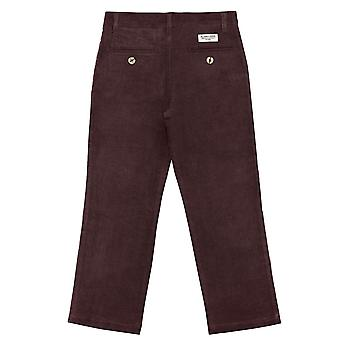 Buyless Fashion Boys Pantaloni Flat Front Slim Fit Casual Corduroy Colore solido - ...