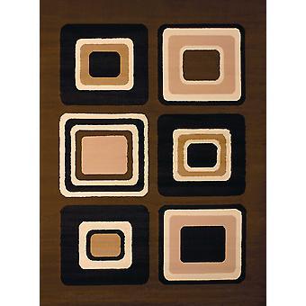 "63&x 86"" Ruskea polypropyelene alue matto"