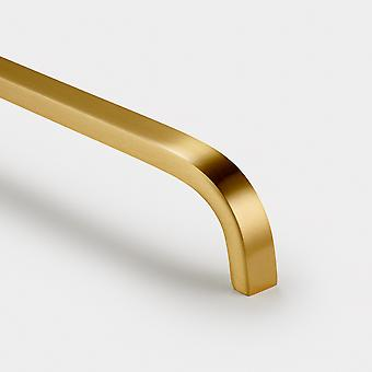 Brass Bar Handle - Gold - Hole Centre 128mm - Curve