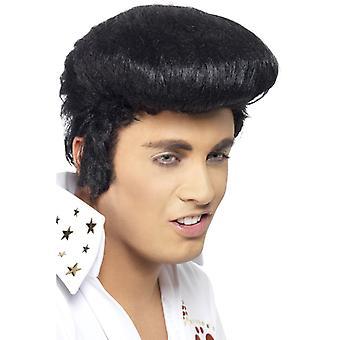 Elvis peruk deluxe Elvis Presley peruk med skaft