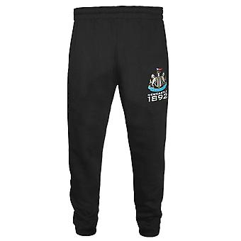 Newcastle United FC officiella Gåva Boys Slim Fit Fleece Joggare Jog Byxor