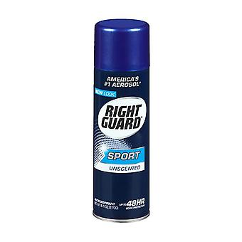 Garde à droite sport déodorant spray, inodore, 6 oz